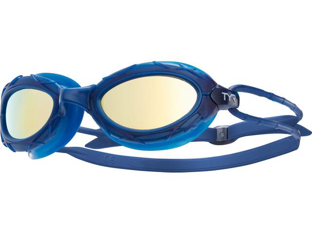 TYR Nest Pro Okulary pływackie Metelized niebieski